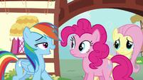 "Rainbow reveals to Pinkie ""Zephyr Breeze"" S6E11"