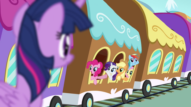 File:Twilight's friends waving goodbye S4E01.png