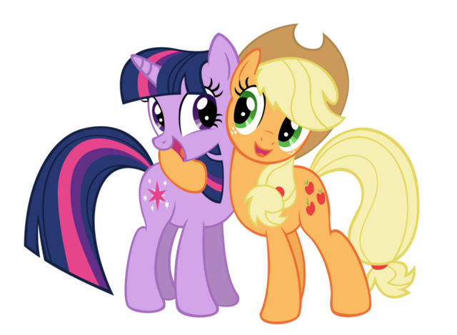 File:FANMADE Applejack with Twilight.png