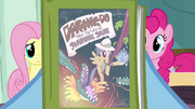 Rainbow Dash holding Daring Do book S2E16
