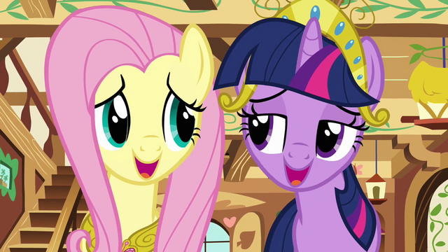 File:Twilight and Fluttershy singing together S03E13.png