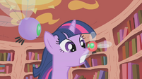 Twilight grabs a parasprite by the wing S1E10