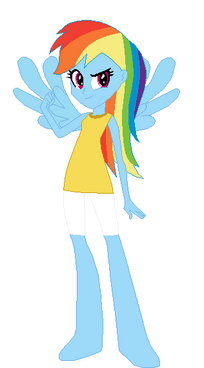 FANMADE Rainbow Dash Human EG Outfit