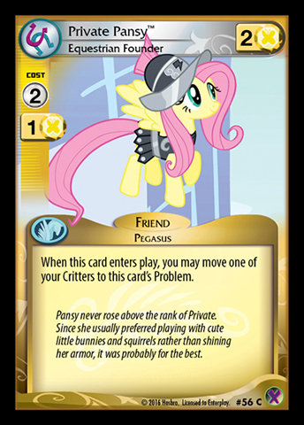 File:Private Pansy, Equestrian Founder card MLP CCG.jpg