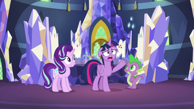 "File:Twilight ""what in Equestria could be going on there?!"" S7E10.png"