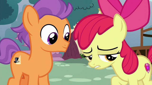 "File:Apple Bloom ""mopin' around for no reason"" S6E4.png"