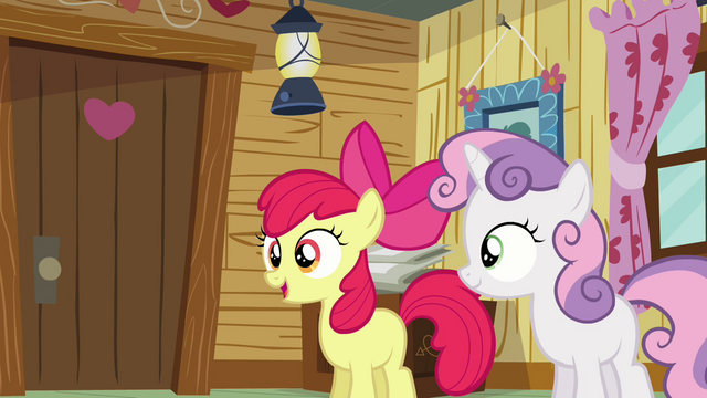 File:Apple Bloom 'Applejack and I are supposed to be campin' up' S3E06.png