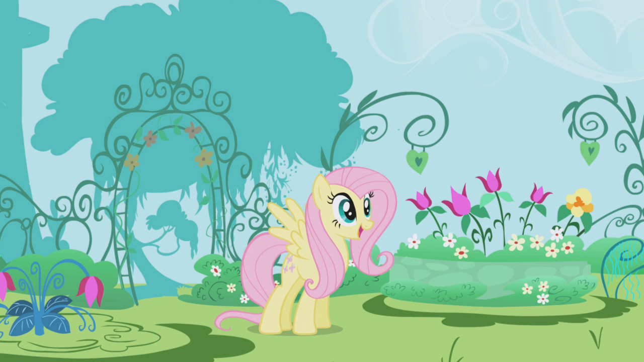 Image Fluttershy Looking At The Garden My