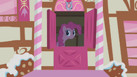 Pinkie Pie beckoning Spike S1E9