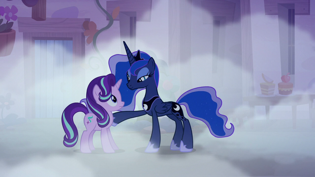 File:Princess Luna putting a hoof on Starlight Glimmer S6E25.png