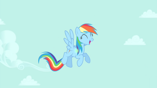 File:Rainbow Dash in the clear sky S4E23.png