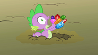 Spike caught trying to eat gems S01E19