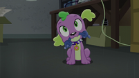 Spike looks inquisitively at Twilight EG3