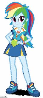 Friendship Games Rainbow Dash School Spirit artwork