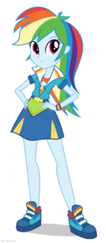 Friendship Games Rainbow Dash School Spirit artwork