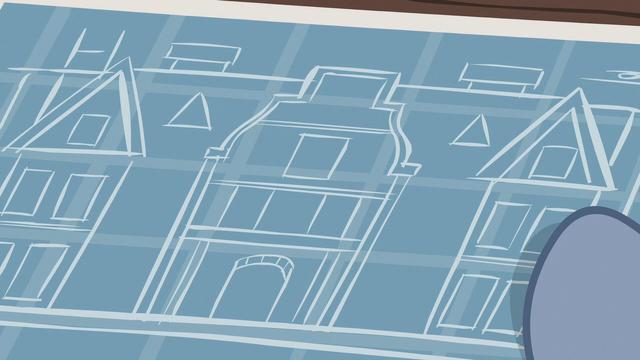 File:Hard Hat unfurling hospital blueprints S7E5.png