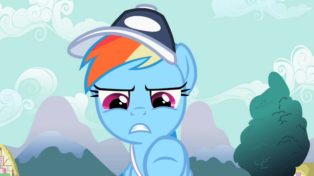 File:Rainbow Dash pointing S2E07.png