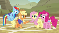 "Applejack ""sucked the fun right out of the game"" S6E18"
