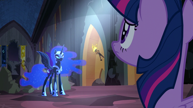 File:Twilight and Nightmare Moon looking at each other S4E02.png