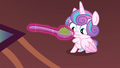 Flurry looks at spoonful of mashed peas S7E3.png
