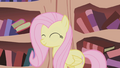 Fluttershy after cleaning Twilight's home S1E03.png