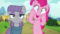 Maud stoic; Pinkie Pie excited S7E4.png