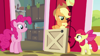 Apple Bloom complimenting Applejack S4E09