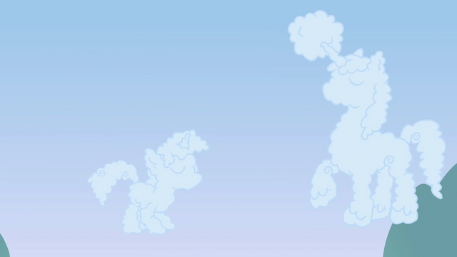 File:Clouds in the shape of Twilight and Shining Armor S02E25.png