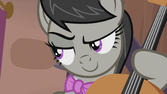 Octavia looking slyly at DJ Pon-3 S5E9