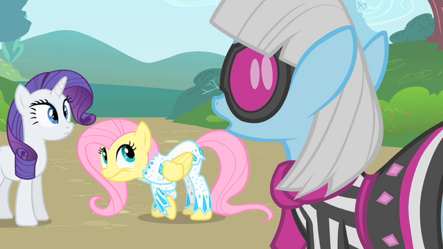 File:Photo Finish disproves of Fluttershy's outfit S1E20.png