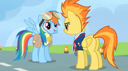 Rainbow Dash receives the lead pony badge S3E7