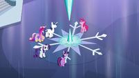The ponies hear Flurry Heart S6E2