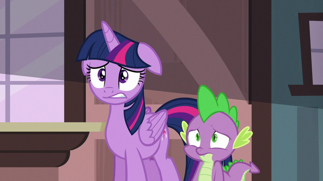 File:Twilight and Spike worried about their friends S6E22.png