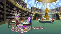 Twilight library yawn EG