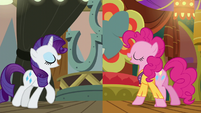 Rarity and Pinkie singing It's Gonna Work S6E12
