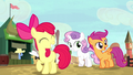 Cutie Mark Crusaders excited about the rodeo S5E6.png