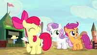 Cutie Mark Crusaders excited about the rodeo S5E6