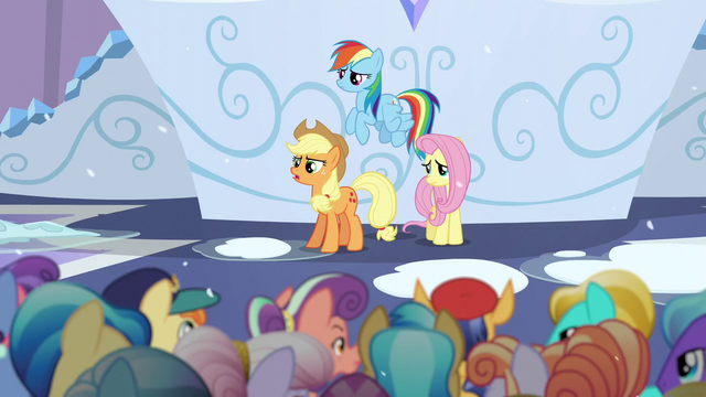 """File:Applejack """"if there's gonna be a Crystallin'"""" S6E2.png"""