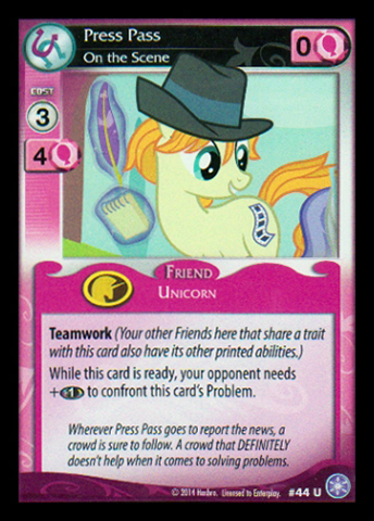 File:Press Pass, On the Scene card MLP CCG.jpg