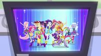 Dance Magic video on TV monitor EGS1