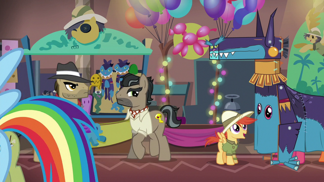 File:Dr. Caballeron at the Daring Do convention S6E13.png