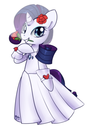 File:FANMADE Rarity wedding dress by soapie solar.png