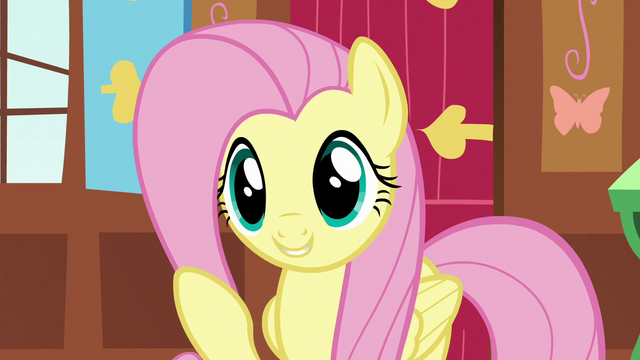 """File:Fluttershy """"happy to have such experienced ponies"""" S7E5.png"""