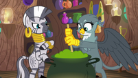 Gabby helps Zecora stir her potion S6E19