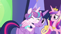 Flurry Heart clinging tightly to Twilight Sparkle S7E3.png