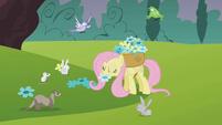 Fluttershy noms flower S01E10