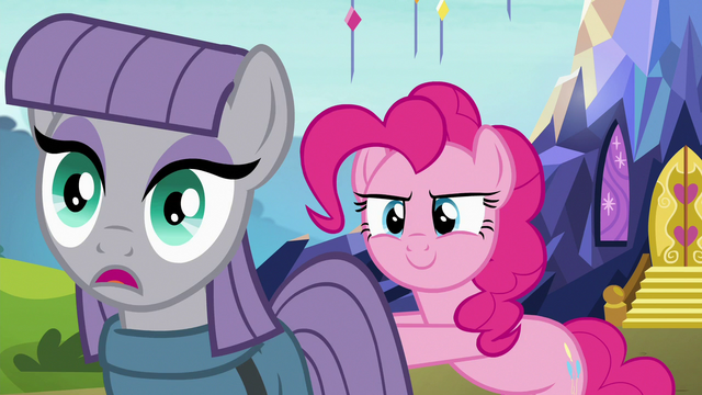 File:Pinkie Pie shoves Maud toward Starlight S7E4.png