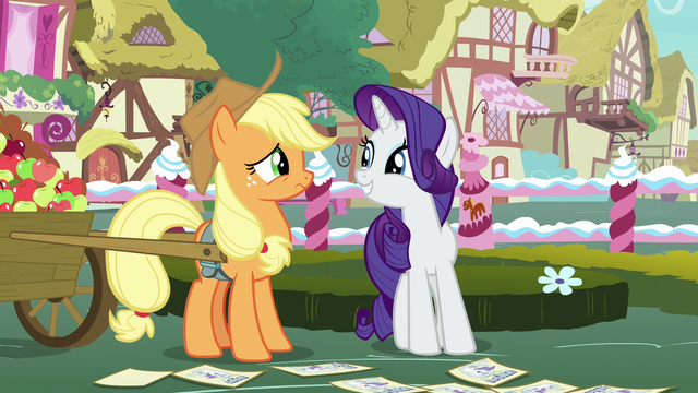File:Rarity encouraging Applejack to be a judge S7E9.png
