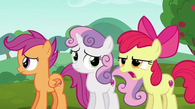 "File:Apple Bloom upset ""passenger seat?!"" S6E14.png"