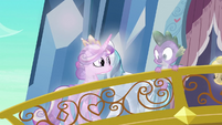 Spike looking down first S3E2